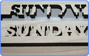 Laser cutting on mdf boards using a laser engraving machine with a RF Laser tube