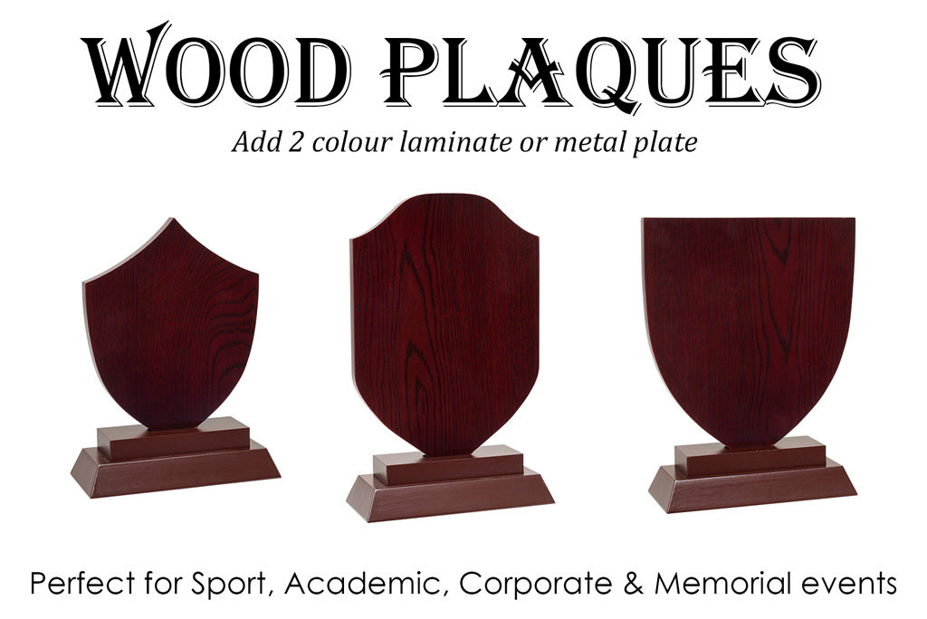 wooden award plaques